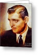 Clark Gable, Vintage Hollywood Actor Greeting Card