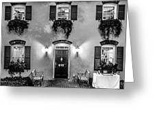 Classic Historic Banquet And Event Home And Backyard Greeting Card