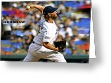 Clayton Kershaw, Los Angeles Dodgers Greeting Card