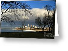 Cleveland Winter Dawn Greeting Card