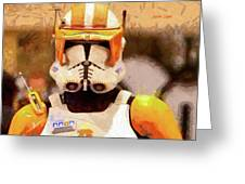 Clone Trooper Commander - Free Style Style Greeting Card