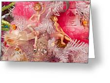 Close-up Of Toys On Christmas Tree Greeting Card
