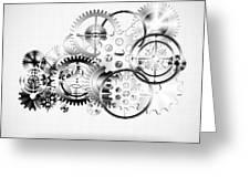 Cloud Made By Gears Wheels  Greeting Card by Setsiri Silapasuwanchai