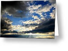Clouded Sun Rays Greeting Card