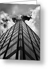 Clouds And Office Building Midtown Greeting Card