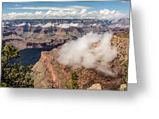 Clouds Lifting From Grand Canyon Greeting Card by Claudia Abbott