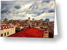 Clouds Over Havana Greeting Card