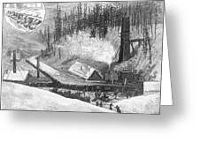 Coal Mine Explosion, 1884 Greeting Card