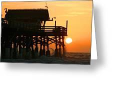 Cocoa Beach Pier/sunrise Greeting Card