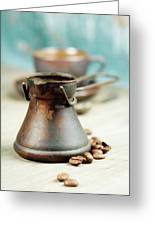 Coffee Composition Greeting Card