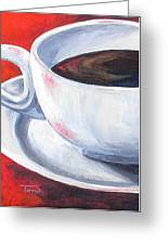 Coffee On Red Greeting Card