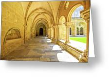 Coimbra Cathedral Colonnade Greeting Card