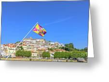 Coimbra Skyline Portugal Greeting Card