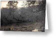 Cold River Flow Greeting Card