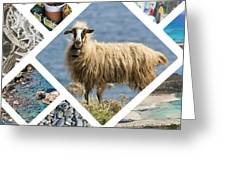 Collage Of Crete  Greeting Card