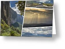 Collage Of Table Mountain Roraima Greeting Card