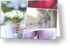 Collage Of Wedding Time Sensational Greeting Card
