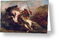 Collision Of Moorish Horsemen Greeting Card