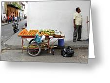Colombia Fruit Cart Greeting Card
