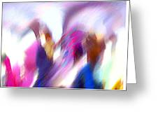 Color Dance Greeting Card