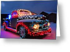 Colorado Christmas Truck Greeting Card