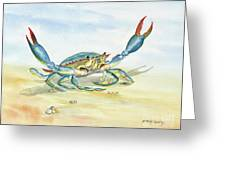 Colorful Blue Crab Greeting Card