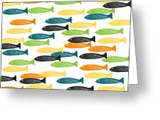 Colorful Fish  Greeting Card by Linda Woods