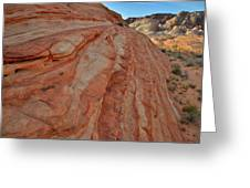 Colorful Sandstone Wave In Valley Of Fire Greeting Card