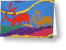 Colorful Street Art Greeting Card