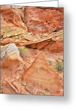 Colorful Wash 3 In Valley Of Fire Greeting Card