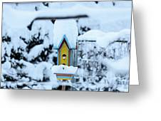 Colors In The Snow Greeting Card