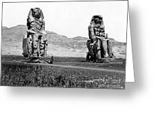 Colossi Of Memnon, Valley Of The Kings Greeting Card