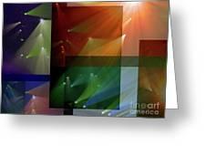 Coloured Lights II Greeting Card