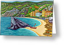 Colours Of Monterosso Greeting Card
