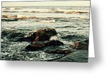 Breaking The Waves Greeting Card