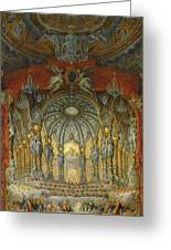 Concert Given By Cardinal De La Rochefoucauld At The Argentina Theatre In Rome Greeting Card