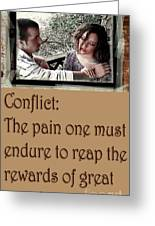Conflict Greeting Card