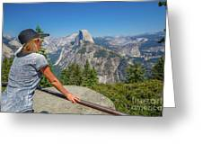 Contemplating Glacier Point Greeting Card