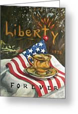 Contemplating Liberty Greeting Card