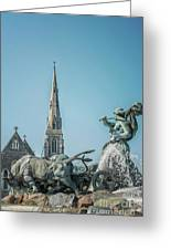 Copenhagen Gefion Fountain Greeting Card