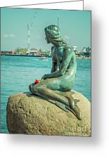 Copenhagen Little Mermaid Greeting Card