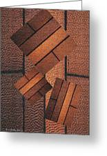 Copper Plate Abstract Greeting Card