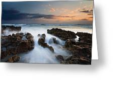 Coral Cove Dawn Greeting Card