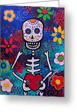 Corazon Day Of The Dead Greeting Card
