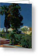 Corner Of The Garden, Alcazar, Sevilla Greeting Card
