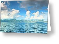 Coron Panorama Greeting Card