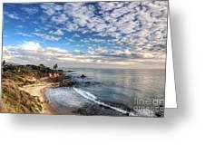 Corona Del Mar Shoreline Greeting Card