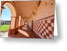 Corridor And Arches Greeting Card