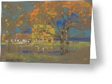 Cottage Amongst The Trees Greeting Card