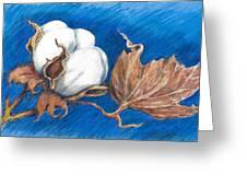 Cotton Picking Blues Greeting Card